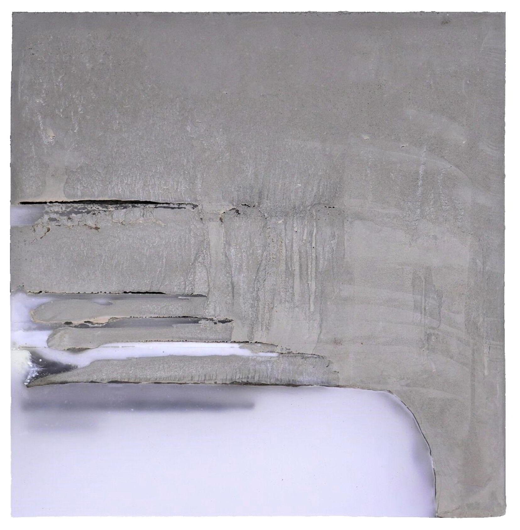 Ulrich Haug, Ohne Titel, Teil B, 2017, Beton, Paraffin, Pigmente, 43 x 43 cm