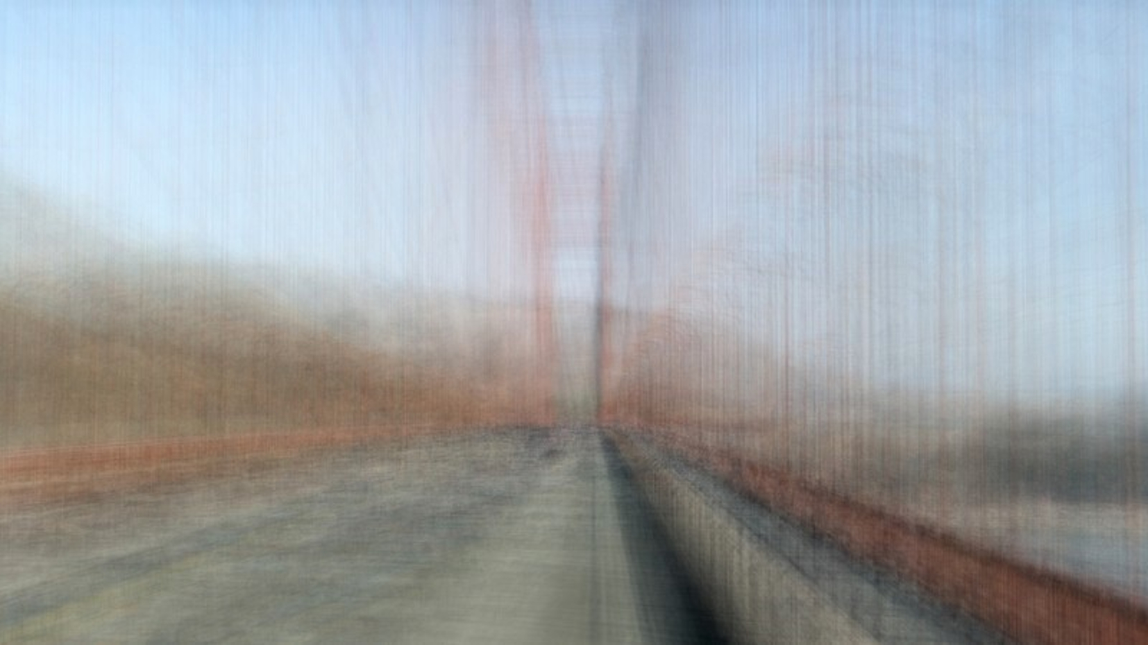 Wolf Helzle, USA Walk, Golden Gate Bridge I, 2017, Fotografische Verdichtung, 84,5 x 150 cm